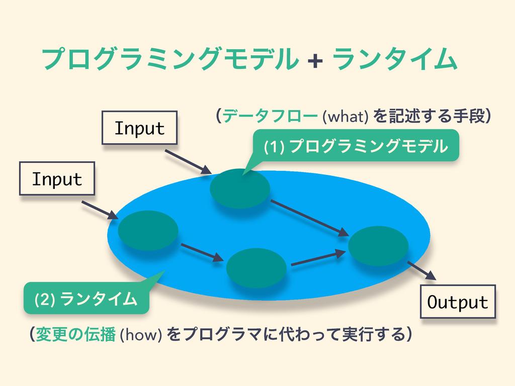 ϓϩάϥϛϯάϞσϧ + ϥϯλΠϜ Input Input Output (2) ϥϯλΠϜ...