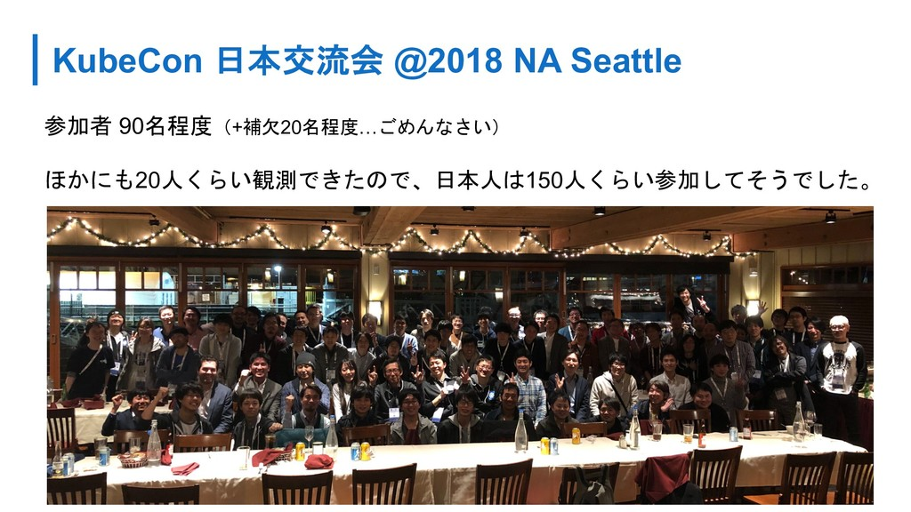 "KubeCon  "" @2018 NA Seattle % 90$(+&!20..."
