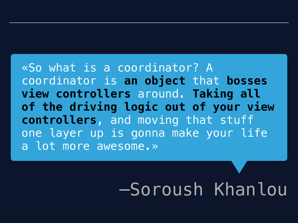 «So what is a coordinator? A coordinator is an ...