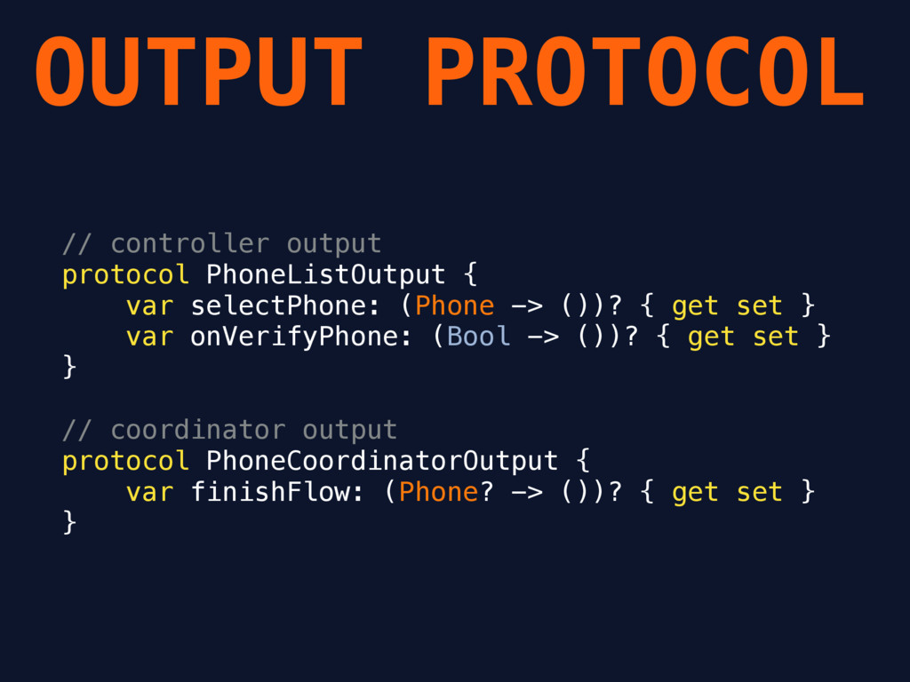 OUTPUT PROTOCOL // controller output protocol P...
