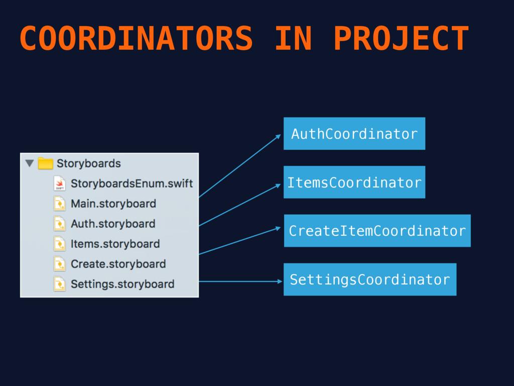COORDINATORS IN PROJECT AuthCoordinator ItemsCo...