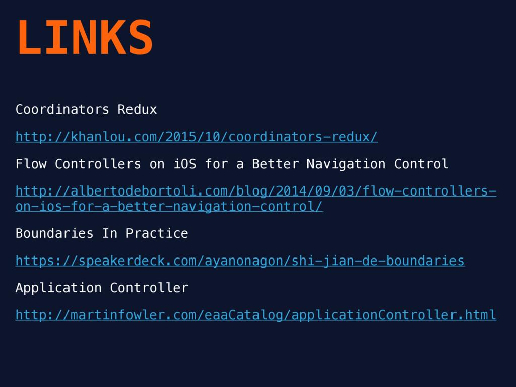 LINKS Coordinators Redux http://khanlou.com/201...
