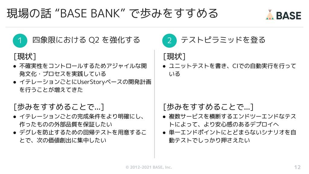 """© 2012-2019 BASE, Inc. 現場の話 """"BASE BANK"""" で歩みをすすめ..."""