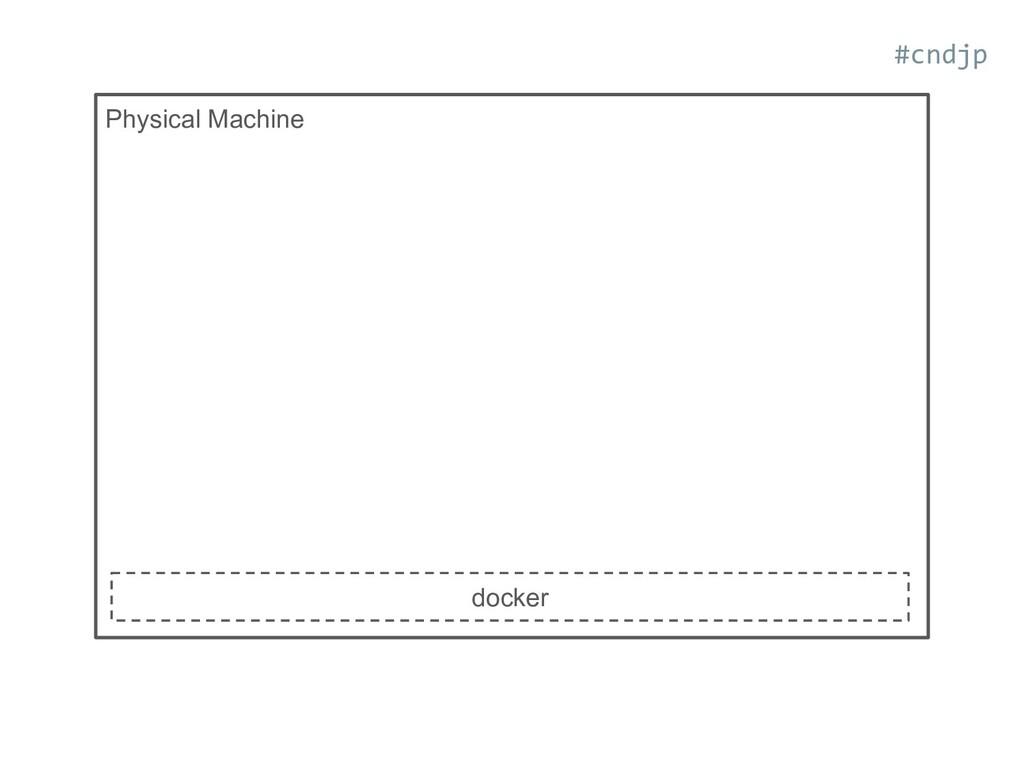 Physical Machine docker #cndjp