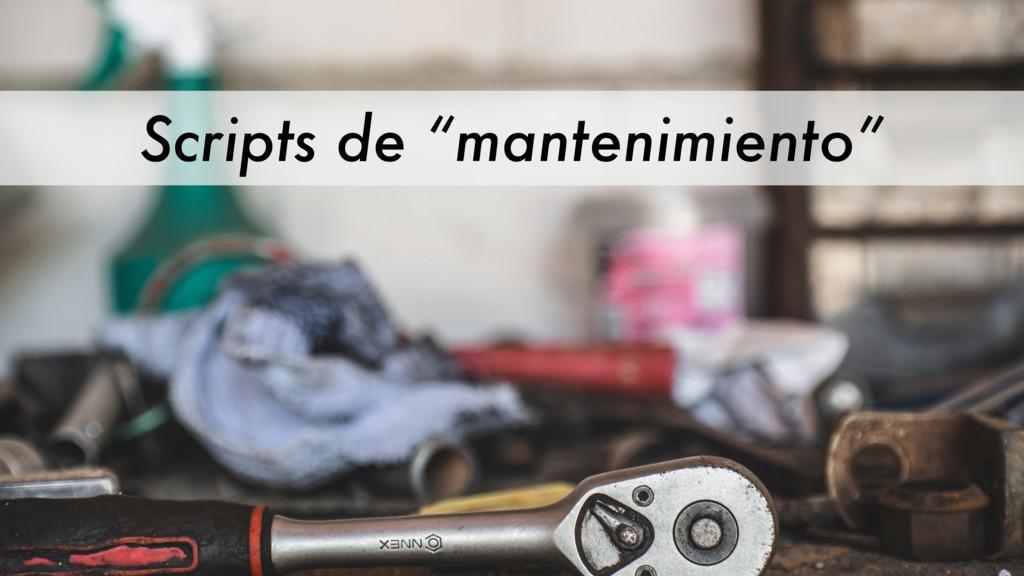 """Scripts de """"mantenimiento"""""""