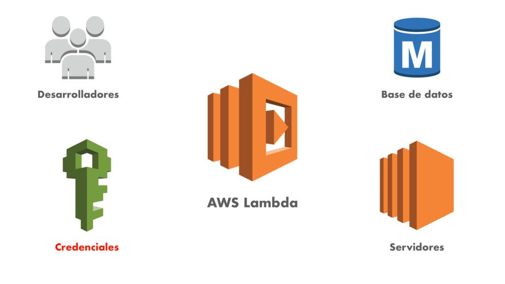AWS Lambda Desarrolladores Credenciales Base de...
