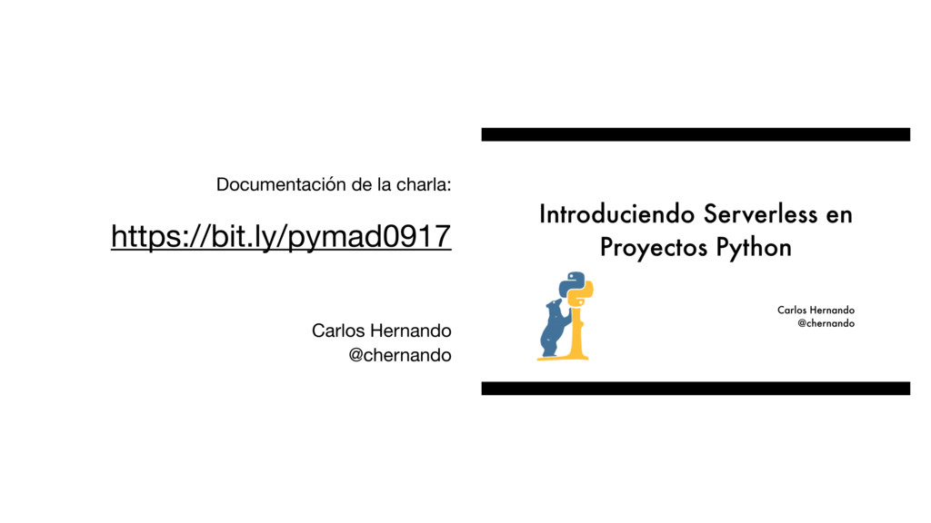 Documentación de la charla:  https://bit.ly/pym...
