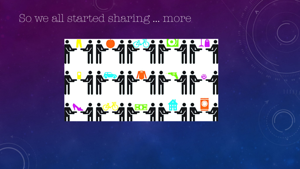 So we all started sharing … more