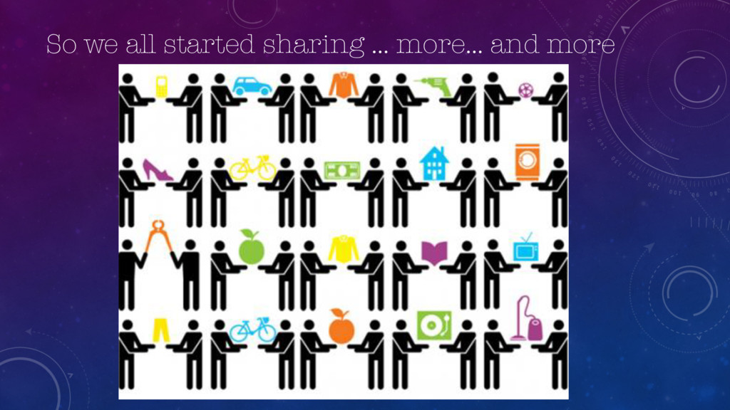 So we all started sharing … more… and more