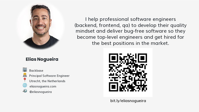 Elias Nogueira I help professional software eng...