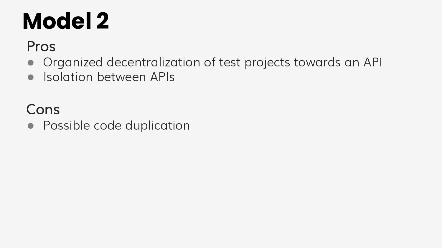 Implementation example Project separation BACKE...