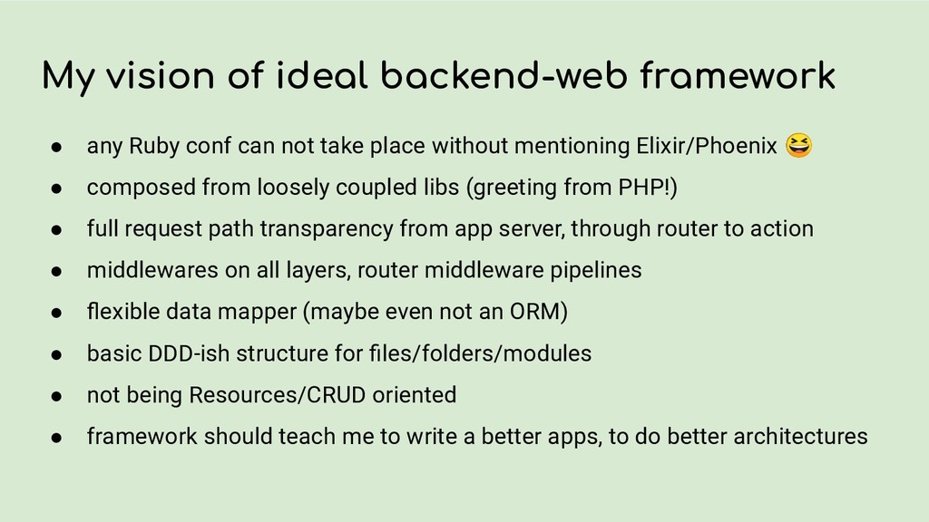 My vision of ideal backend-web framework ● any ...