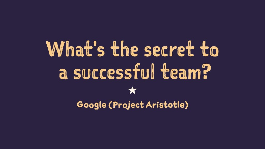 What's the secret to a successful team? 1 Googl...