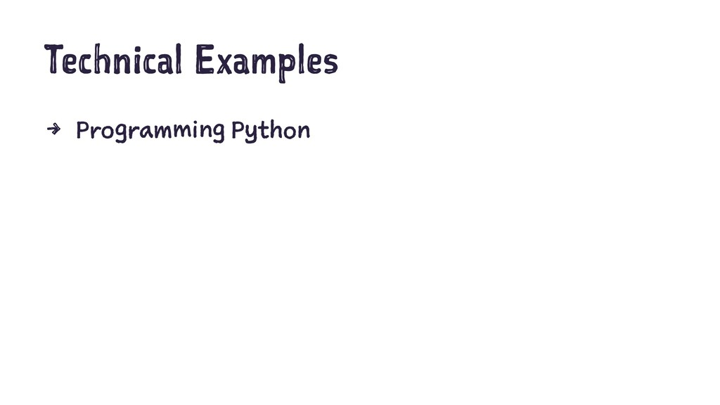 Technical Examples 4 Programming Python