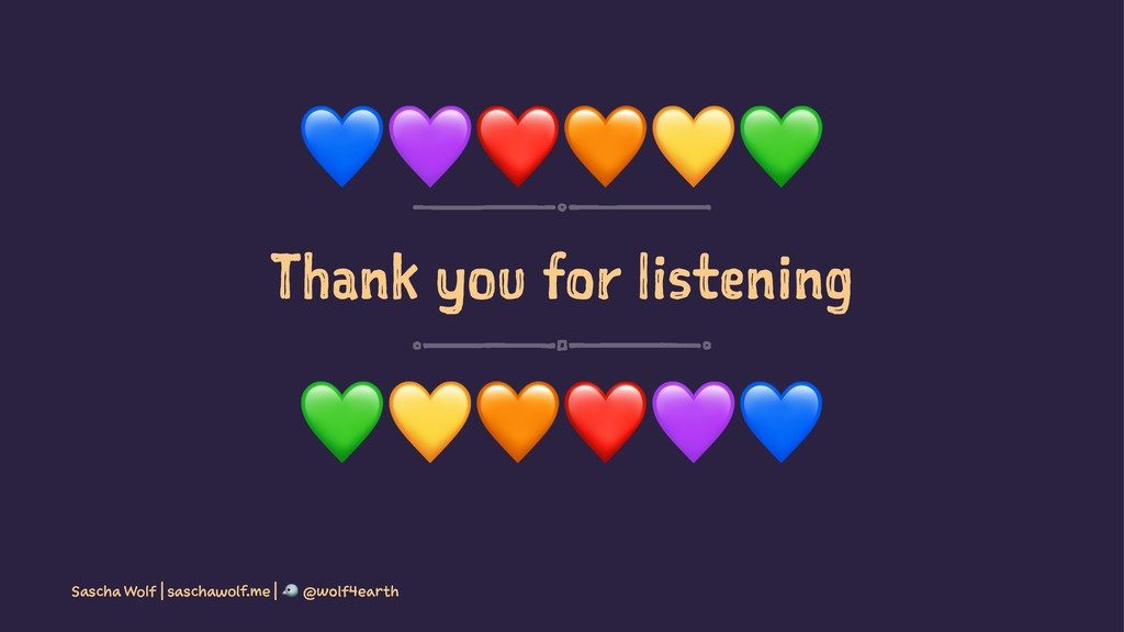 """!""""❤$%& Thank you for listening !""""#❤%& Sascha Wo..."""