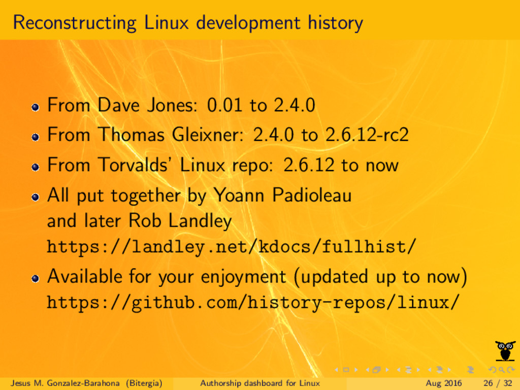 Reconstructing Linux development history From D...