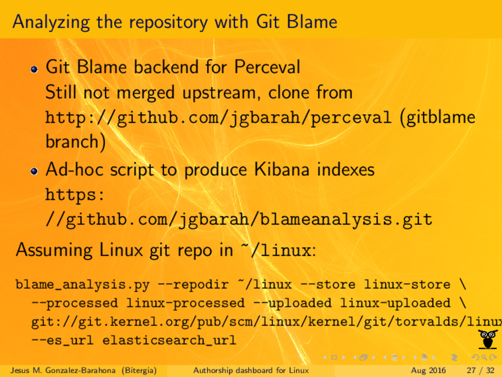 Analyzing the repository with Git Blame Git Bla...