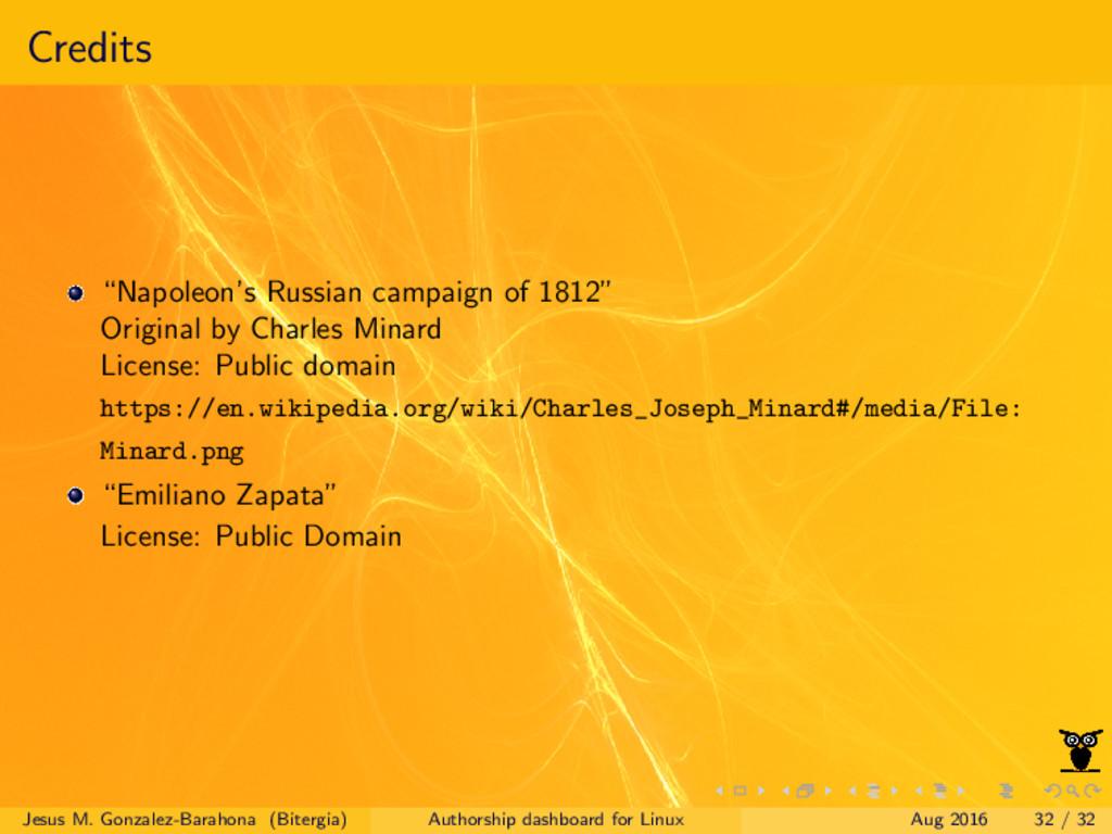 """Credits """"Napoleon's Russian campaign of 1812"""" O..."""