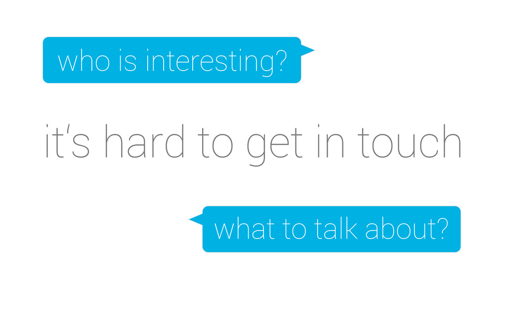 it's hard to get in touch who is interesting? w...