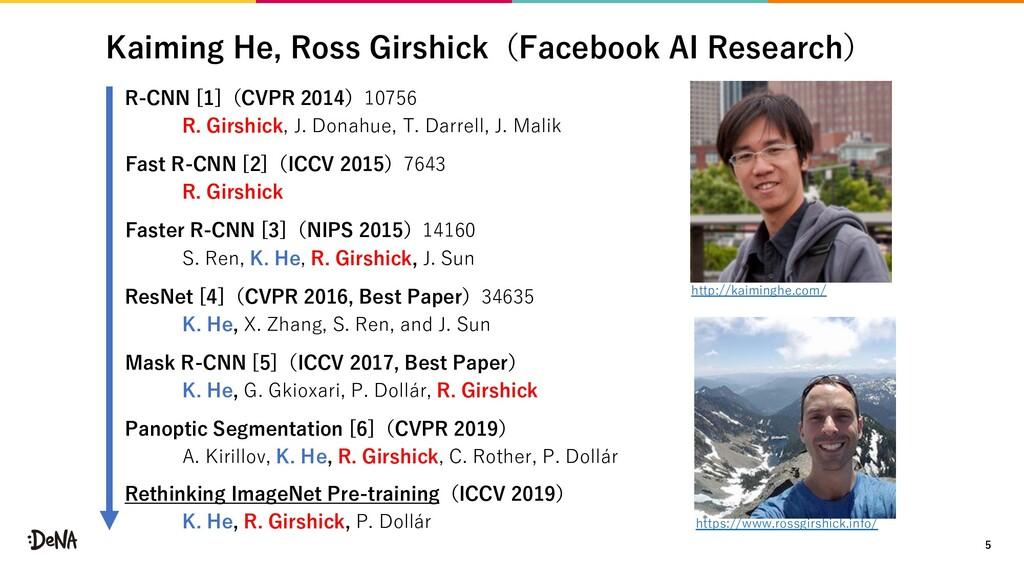 Kaiming He, Ross Girshick(Facebook AI Research)...
