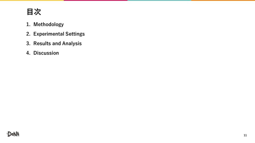 ⽬次 1. Methodology 2. Experimental Settings 3. R...