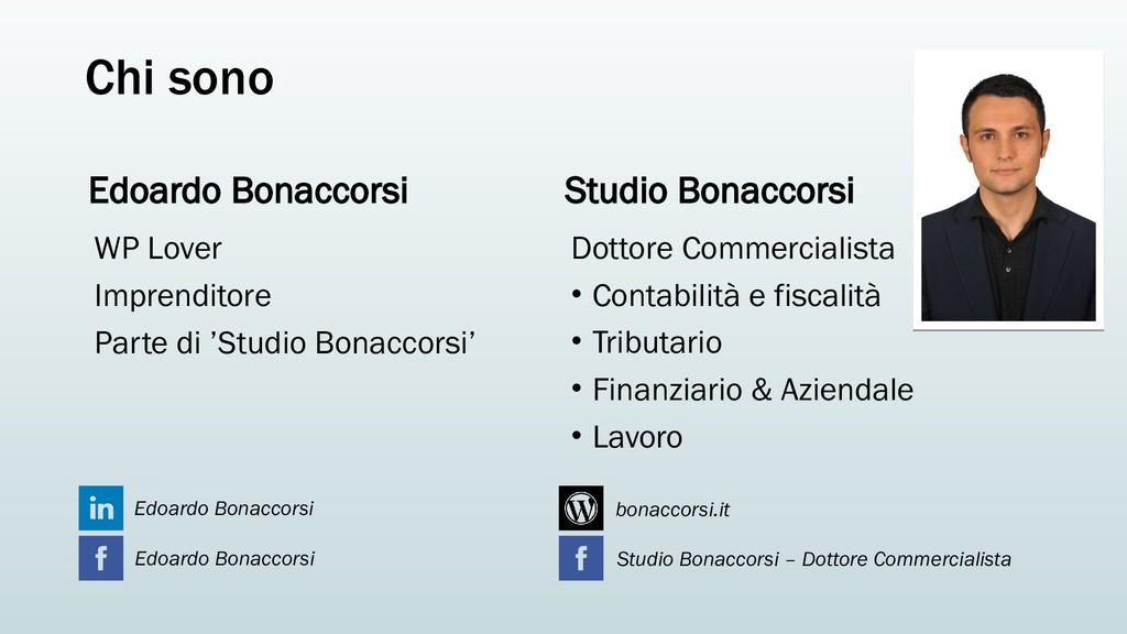 Chi sono Edoardo Bonaccorsi WP Lover Imprendito...