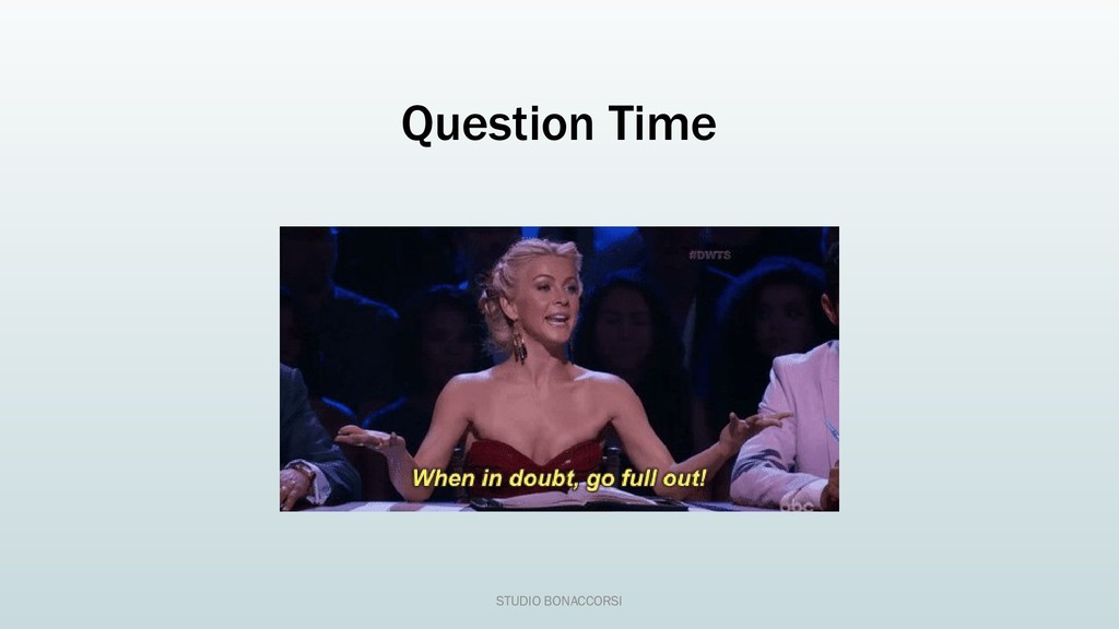 Question Time STUDIO BONACCORSI
