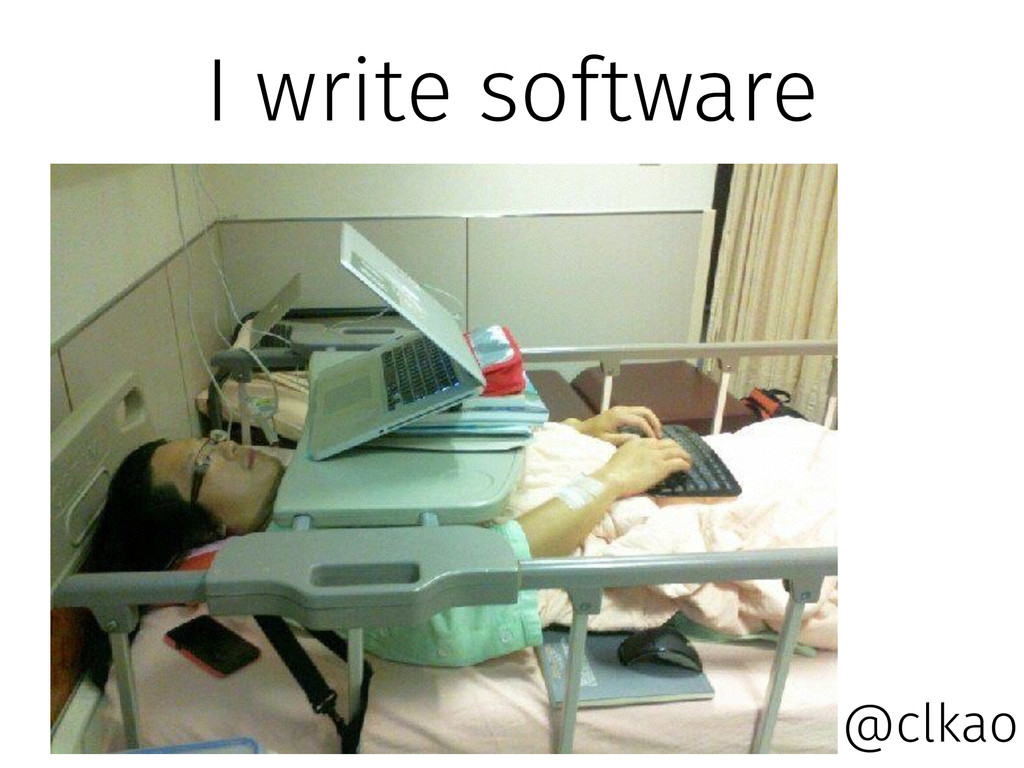 I write software @clkao