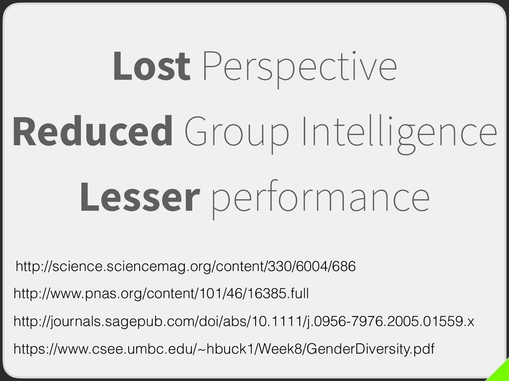 Lost Perspective