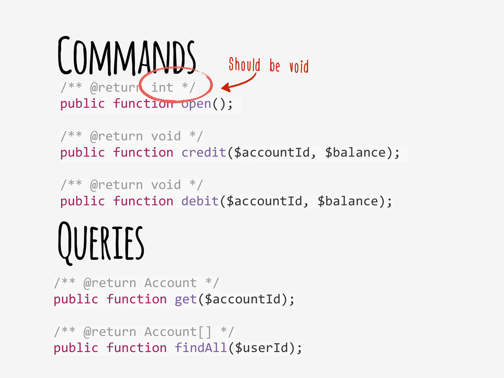 Commands /** @return Account */  pu...
