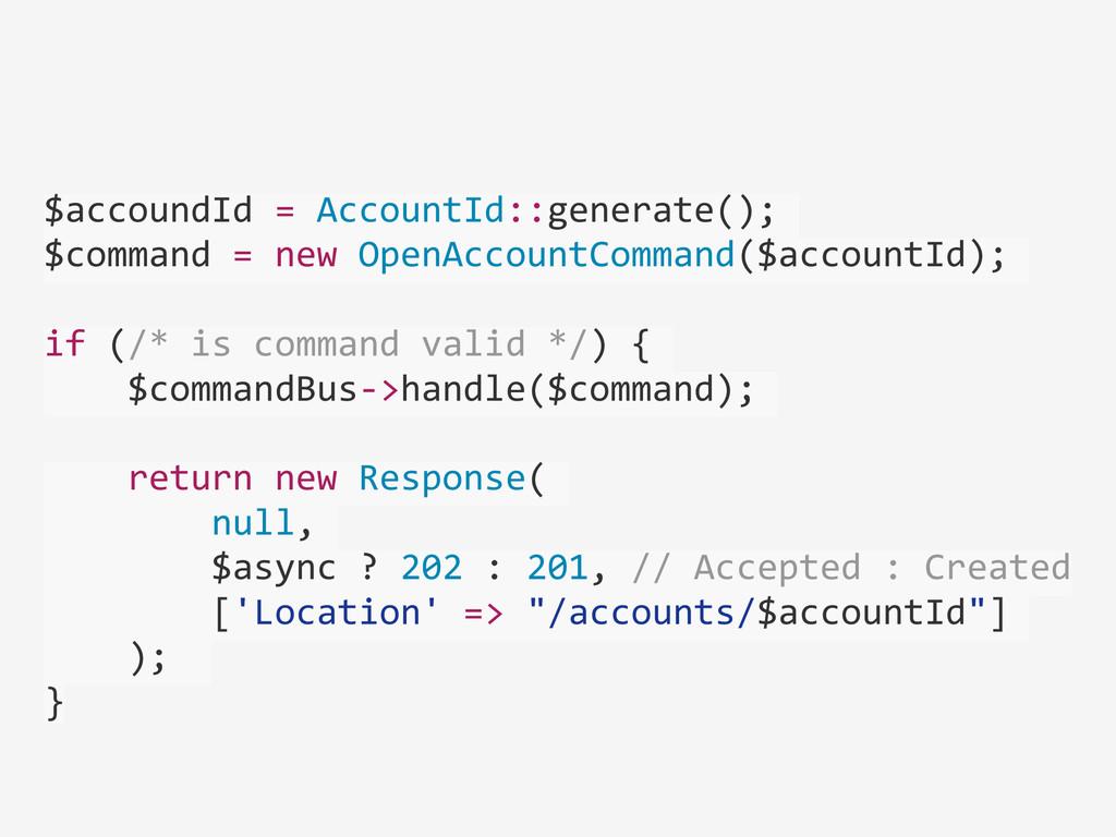 ! $accoundId = AccountId::generate(); ...