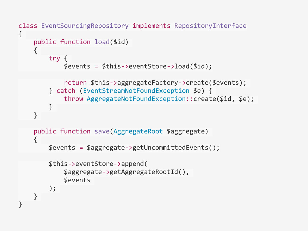 class EventSourcingRepository implements...