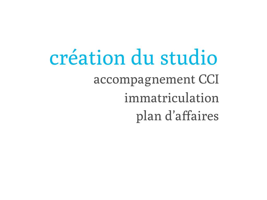 création du studio plan d'affaires accompagnemen...