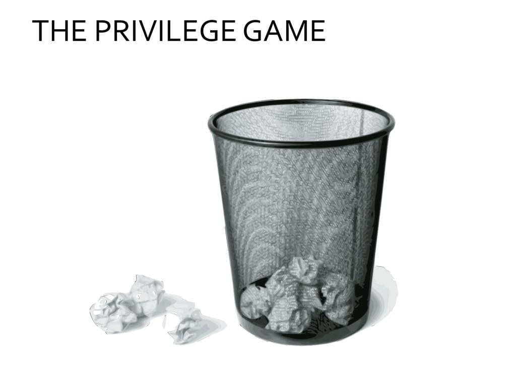THE PRIVILEGE GAME