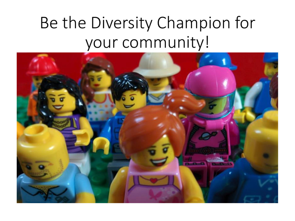 Be the Diversity Champion for your community!