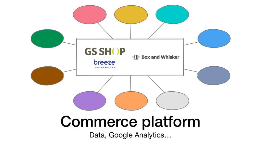 Commerce platform Data, Google Analytics…