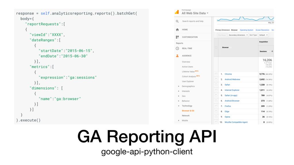GA Reporting API google-api-python-client