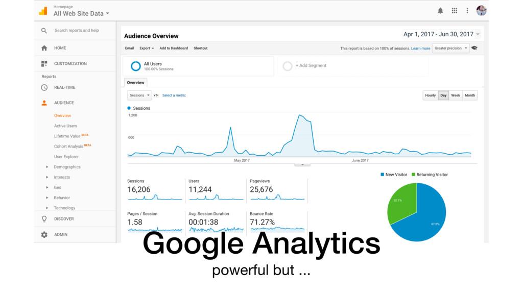 Google Analytics powerful but ...
