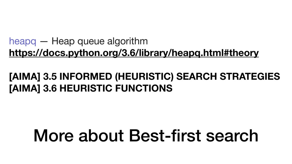 More about Best-first search heapq — Heap queue ...