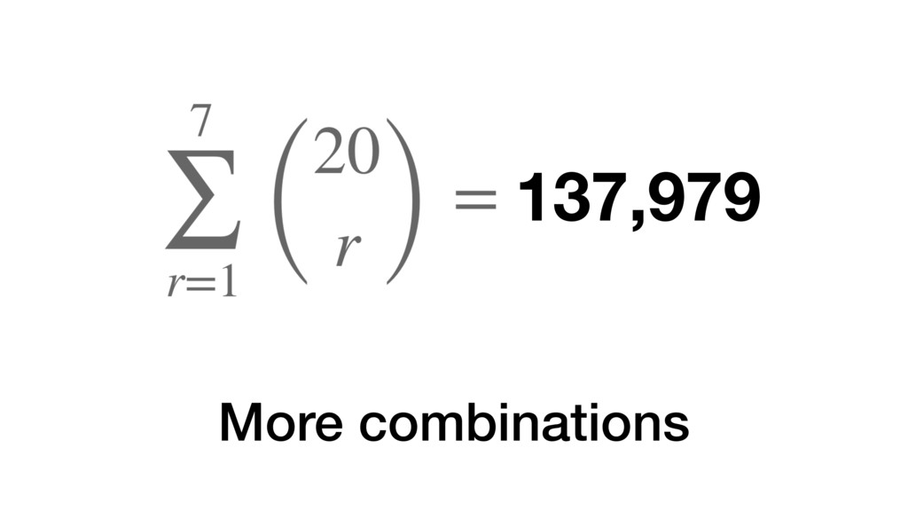 More combinations 137,979