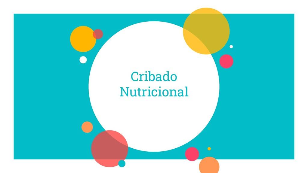 Cribado Nutricional