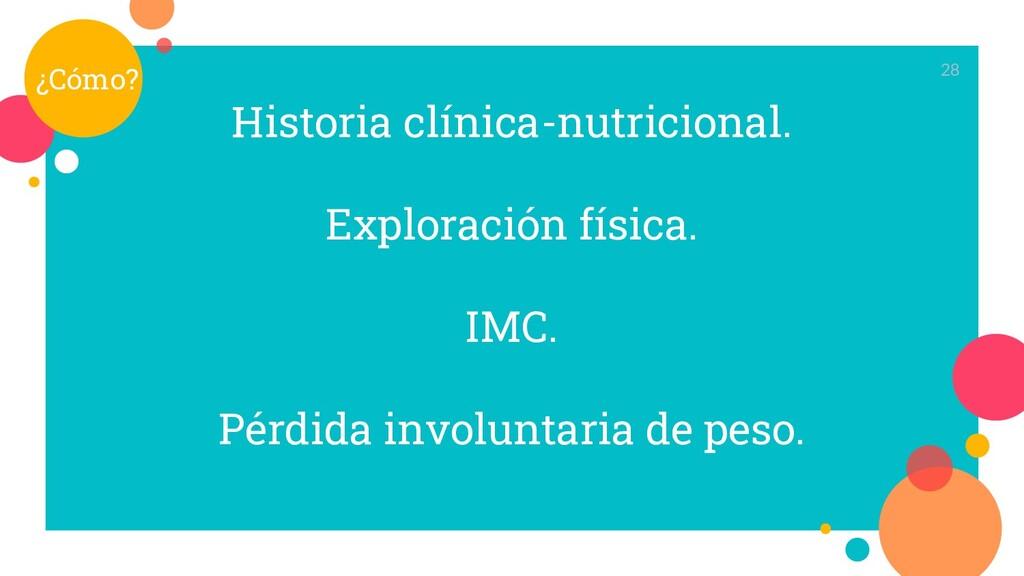 Historia clínica-nutricional. Exploración físic...