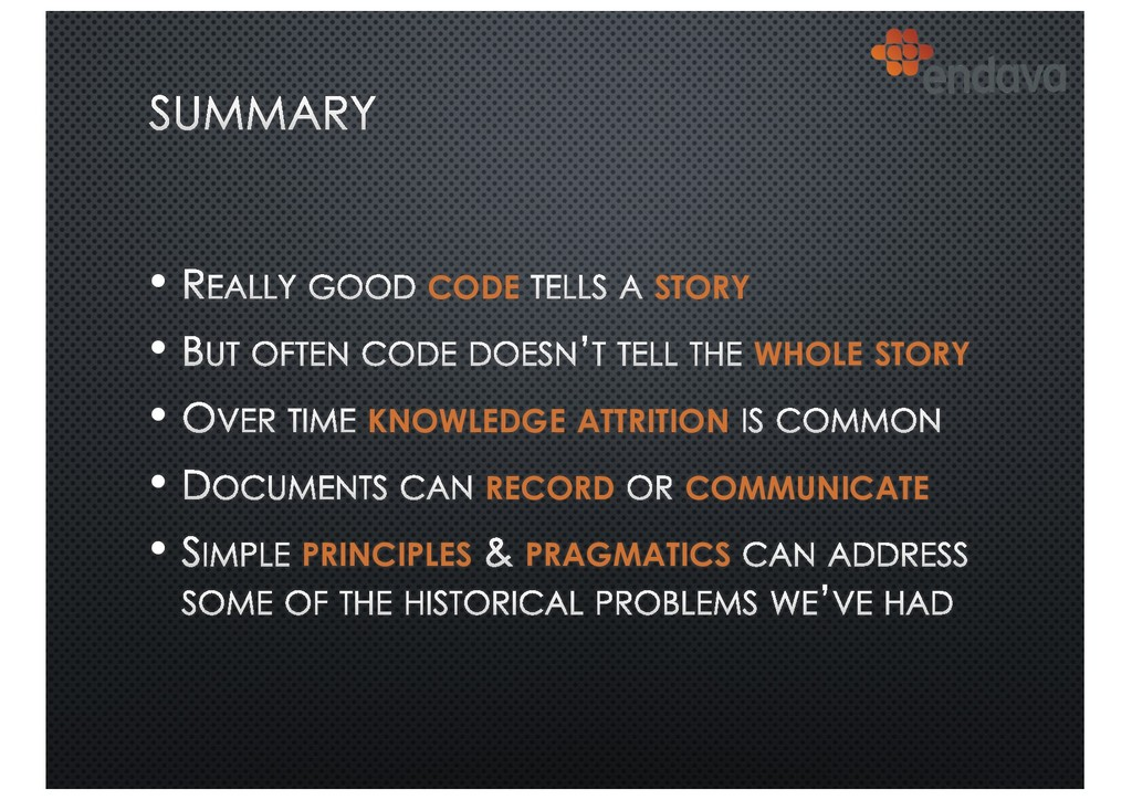 • CODE STORY • WHOLE STORY • KNOWLEDGE ATTRITIO...