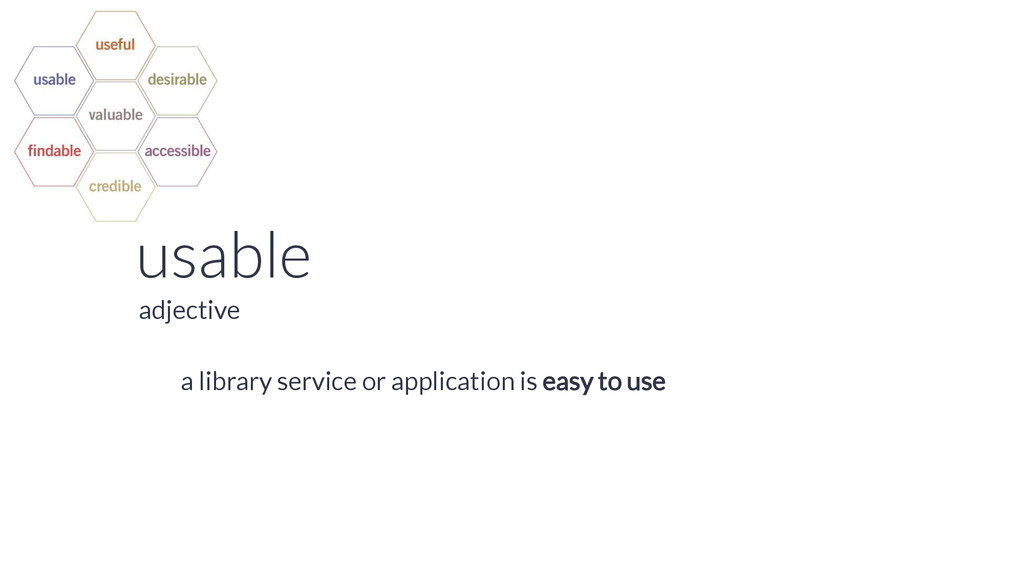 usable a library service or application is easy...
