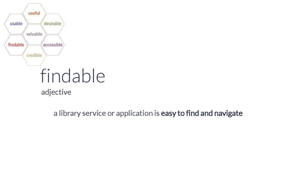 findable a library service or application is ea...