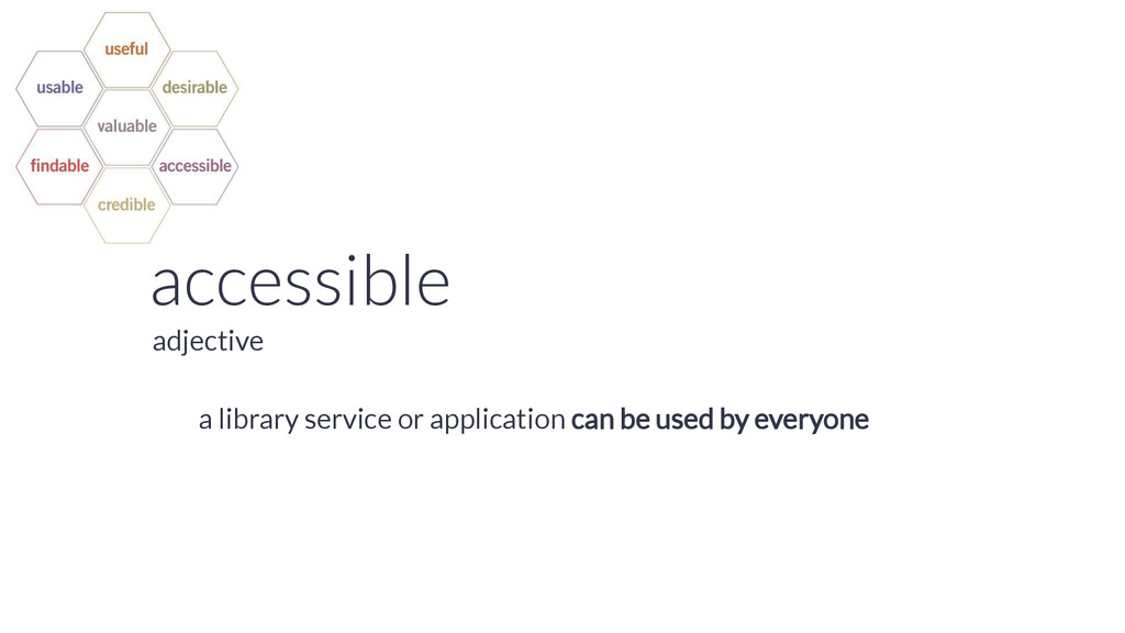 accessible a library service or application can...