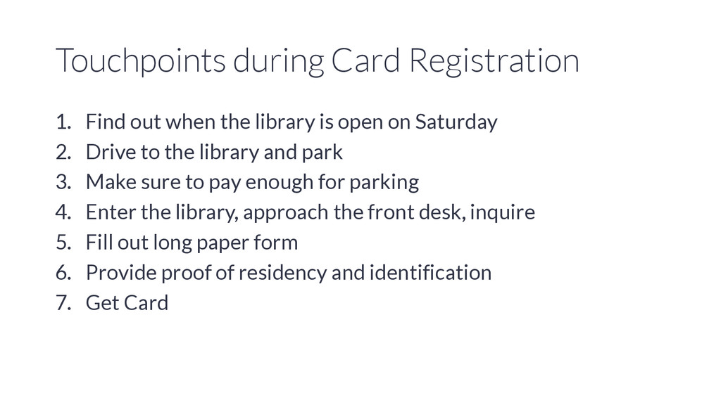 Touchpoints during Card Registration 1. Find ou...