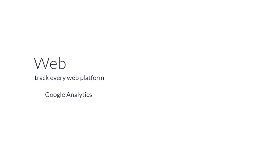 Web Google Analytics track every web platform