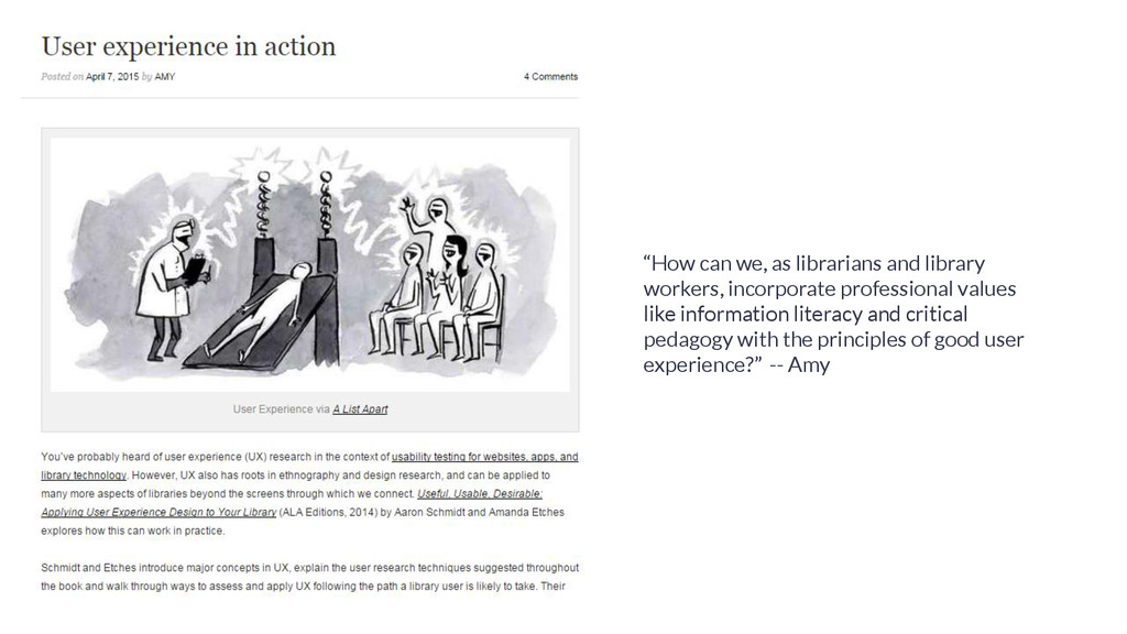 """""""How can we, as librarians and library workers,..."""