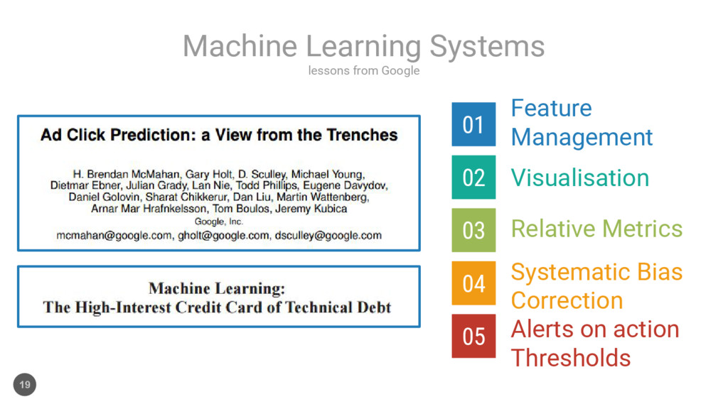 lessons from Google Machine Learning Systems 19...